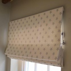 blackout roman blinds for bedroom with star