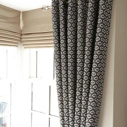 blackout roman blinds with with blackout curtains for you window in dubai