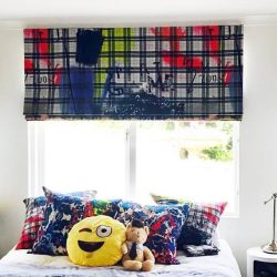 blakcout roman blinds for boys room in dubai