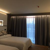 motorized curtains for hotel and duble bedroom room