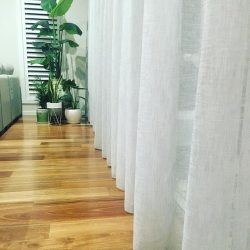 sheer curtains with white color in dubai for living room
