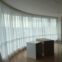 sheer motorized curtains in dubai
