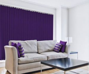 blue vertical blinds in abu dhabi & dubai for office window & home
