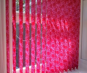 red & pink vertical blinds in abu dhabi & dubai for office