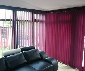 red & pink vertical blinds in abu dhabi & dubai for office window at cheap rate