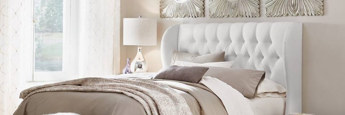 Headboards repair services with white fabric