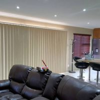 vertical blinds and roller blinds