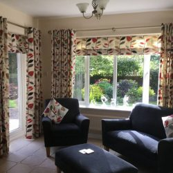 Eyelet curtains and roman blinds installed in Dubai